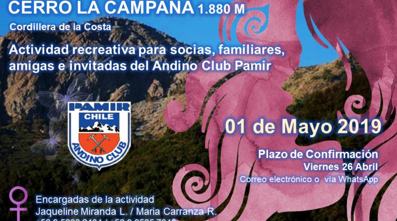 TREKKING Y ASCENSO FEMENINO CERRO LA CAMPANA – 01 MAYO 2019